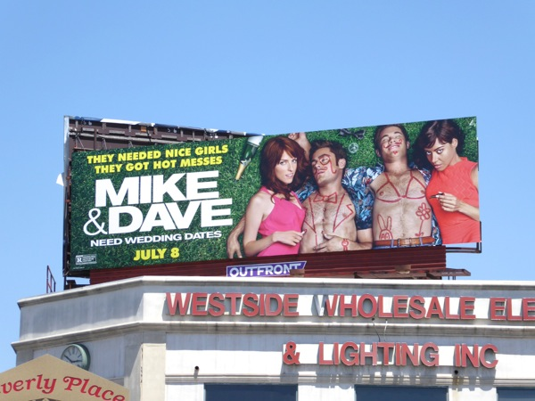 Mike Dave Need Wedding Dates film billboard