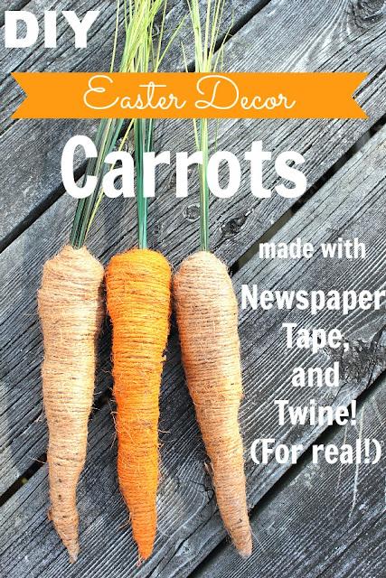 morcovi realizati din ziar reciclat