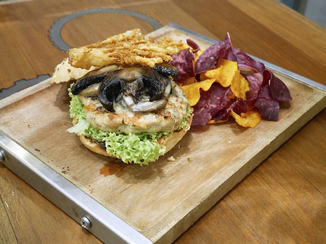 Mushroom Trio Burger - RM33