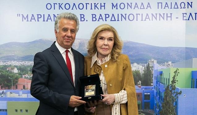 """Συγχαρητήρια επιστολή Γεωργόπουλου στην Μαριάννα Βαρδινογιάννη για το βραβείο """"Nelson Mandela"""""""