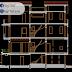 مخطط مشروع فيلا Modern ثلاث طوابق اوتوكاد dwg