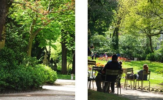 Den engelsk inspirerede del af Jardin du Luxembourg