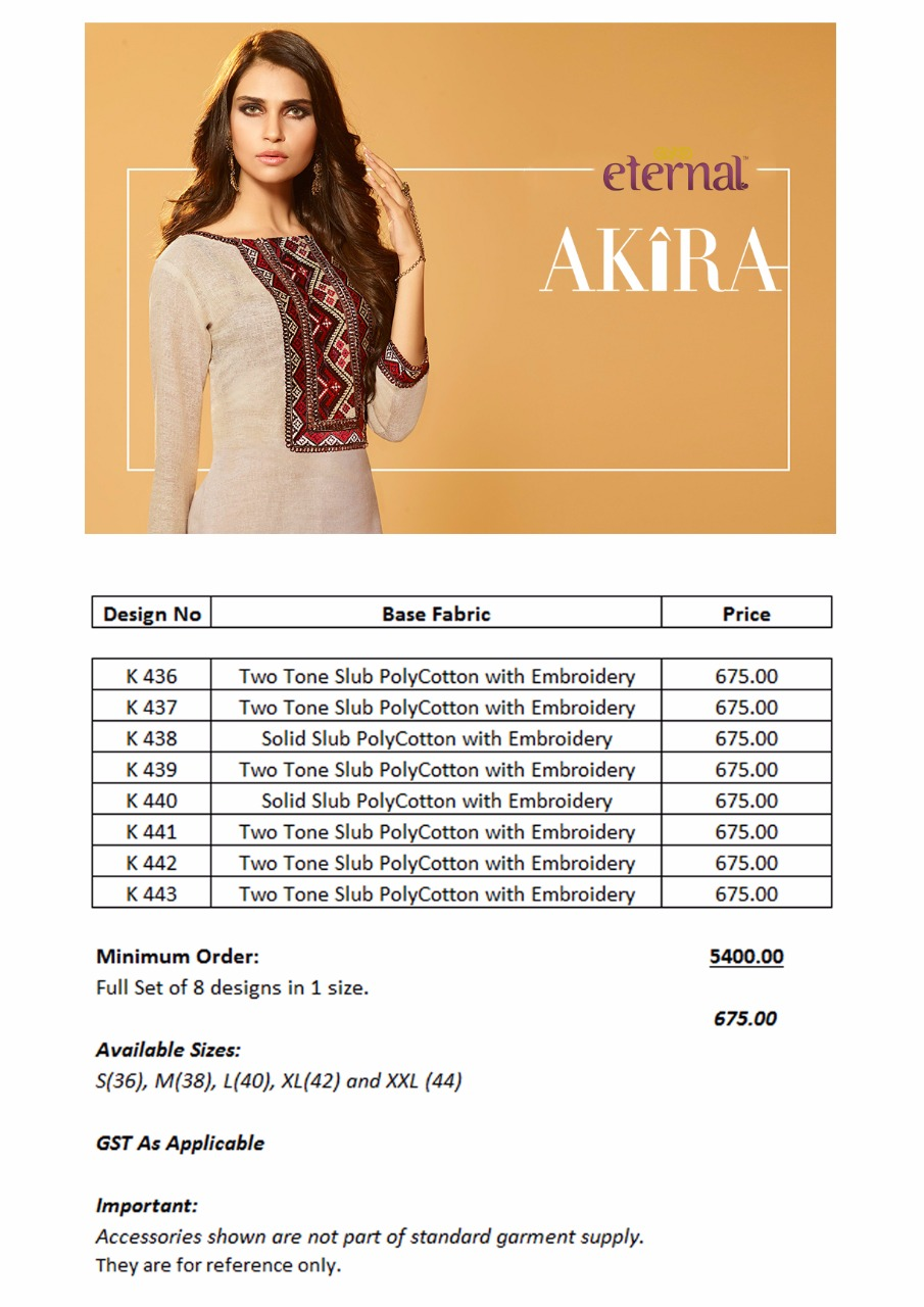 AKIRA-New Arrival Designer Poly Cotton Embroidery Kurti