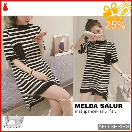 AFO607 Model Fashion Melda Dress Modis Murah BMGShop