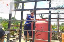 Tim Pencegahan Gugus Tugas COVID-19 Tebo Semprot Disinfektan ke Pelosok Desa