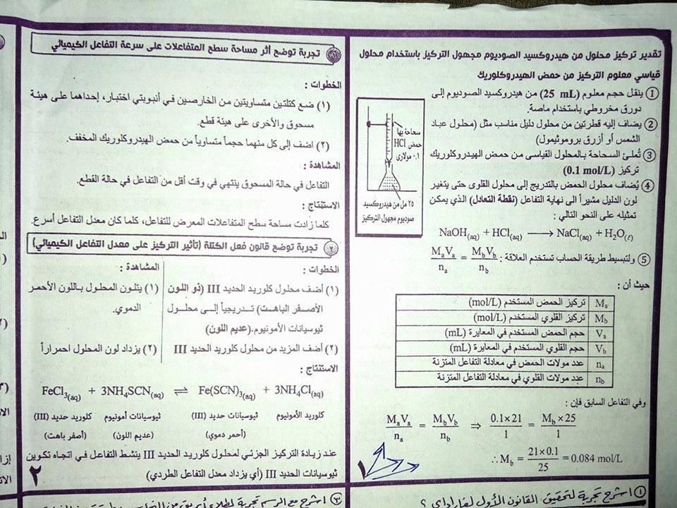 أهم المخططات والمقارنات فى منهج الكيمياء للثانوية العامة مستر إيهاب سعيد 15