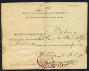 Bentuk KTP Pada Zaman Penjajahan Belanda