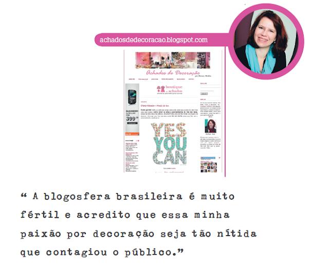 Blog Achados de Decoração na revista Casa & Decoração