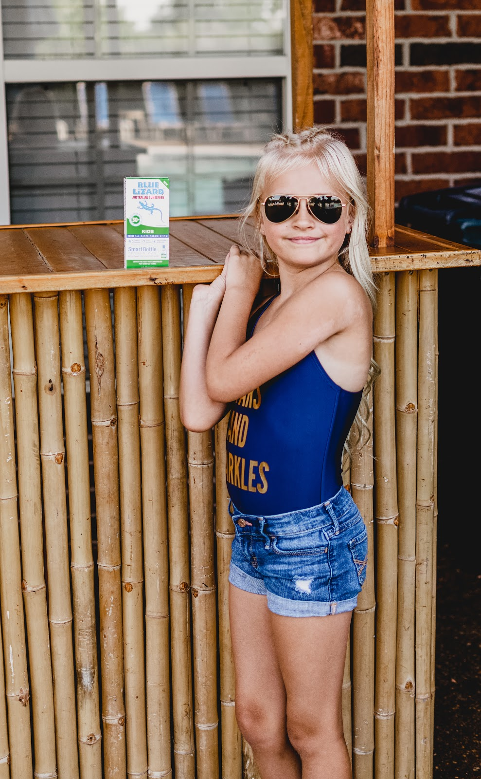 Keeping Daphnie's Skin Safe with Blue Lizard Australian SunScreen! Sunscreen Mineral Zinc Sun UV Protection Sunblock Pool Summer Fun
