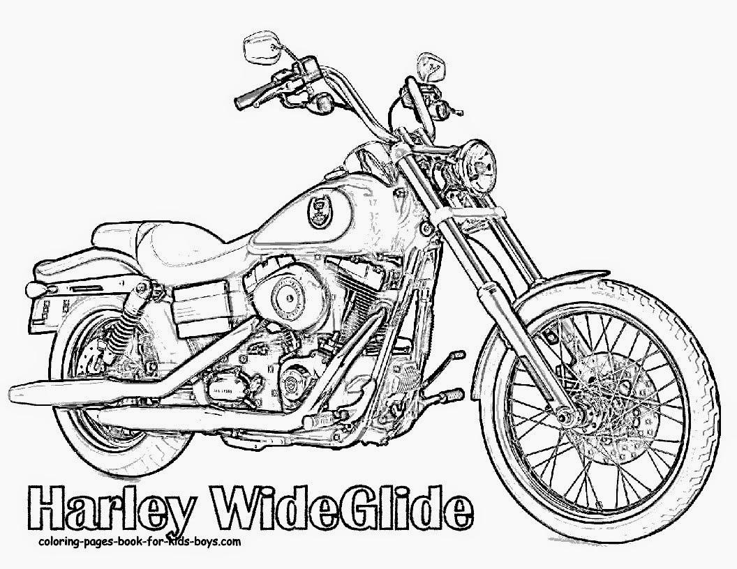 Dibujos De Motos Y Coches Para Colorear: Desenhos Para Colorir Motos - Colorir