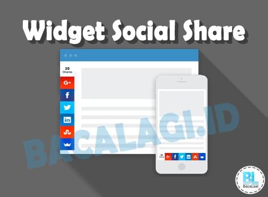 Cara Memasang Widget Social Share Responsive Melayang Di Sidebar Blog