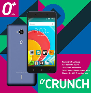 O+ Crunch Launched, Quad Core Android Lollipop for Php2,895