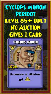 Cyclops Minion - Wizard101 Card-Giving Jewel Guide