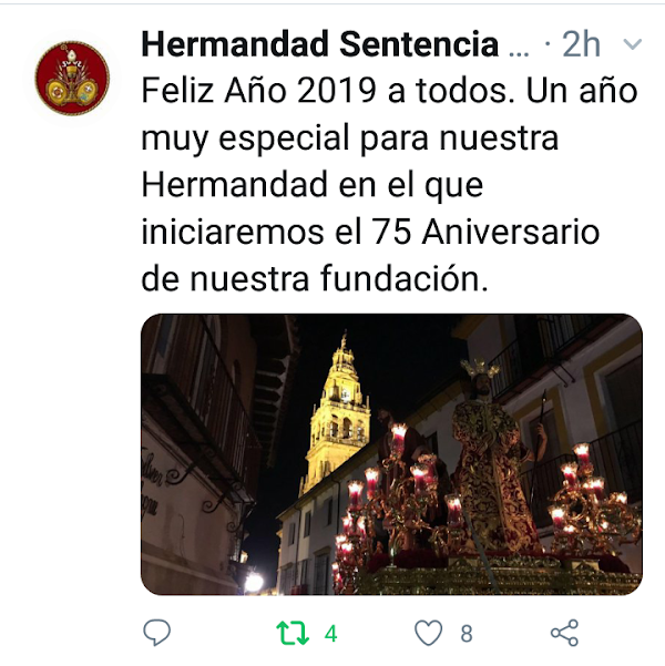 La Sentencia de Córdoba afronta 2019 con su 75 aniversario en el horizonte