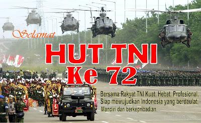 Kata kata ucapan HUT TNI ke 72 tahun 2017 terbaru dilengkapi Pantun dan Puisi