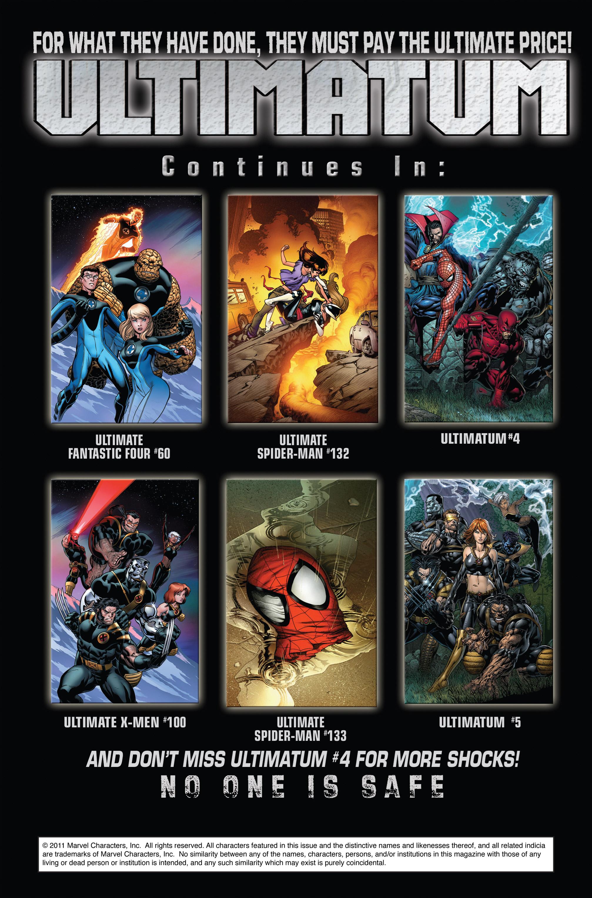 Read online Ultimatum comic -  Issue #3 - 22