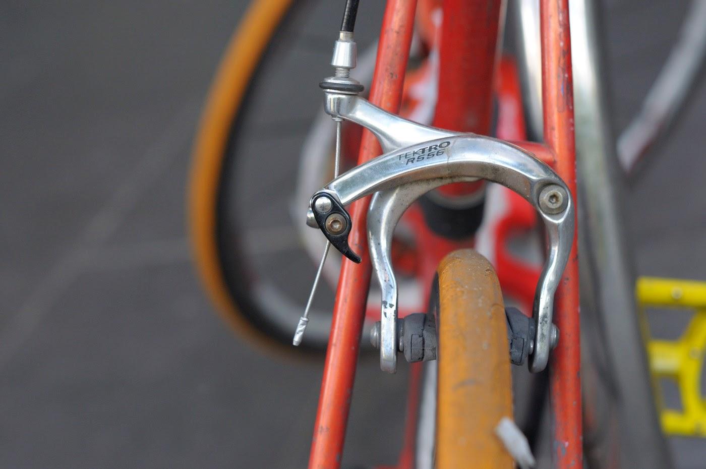 bespoke, custom, single speed, conversion, road bike, swanston st, Melbourne, Australia, decals, stickers, red, selle, miche,