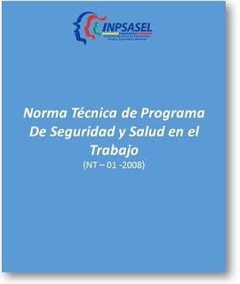 Norma Técnica, Programa de Seguridad y Salud,Trabajo ,NT-01-2008