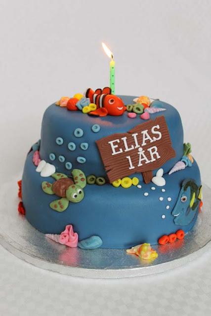 Hitta Nemo tårta