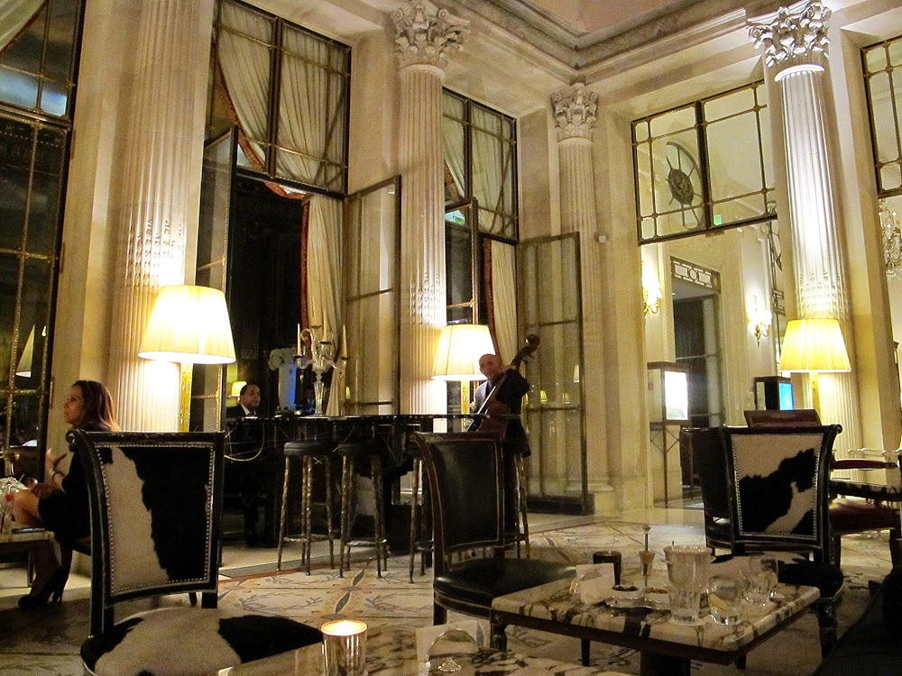 Le Meurice hotel bar on the Rue de Rivoli in Paris
