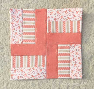 The Farmer's Wife Sampler Quilt (20's)  Block 4 Basket Weave (again ..)