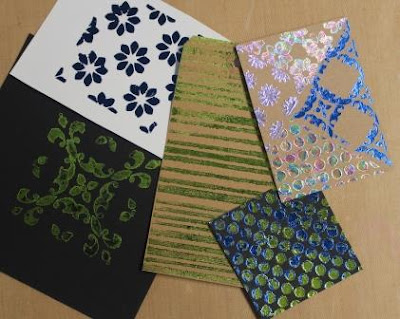 Foiling with StencilGirl® Stencils by Ann Butler