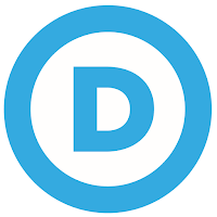 Democratic Party logo--the letter D inside a circle