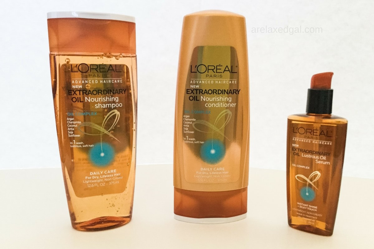 First impressions of the L'Oreal Extraordinary Oil Shampoo, System that I received free from Influenster and L'Oreal Paris for testing purposes.   arelaxedgal.com