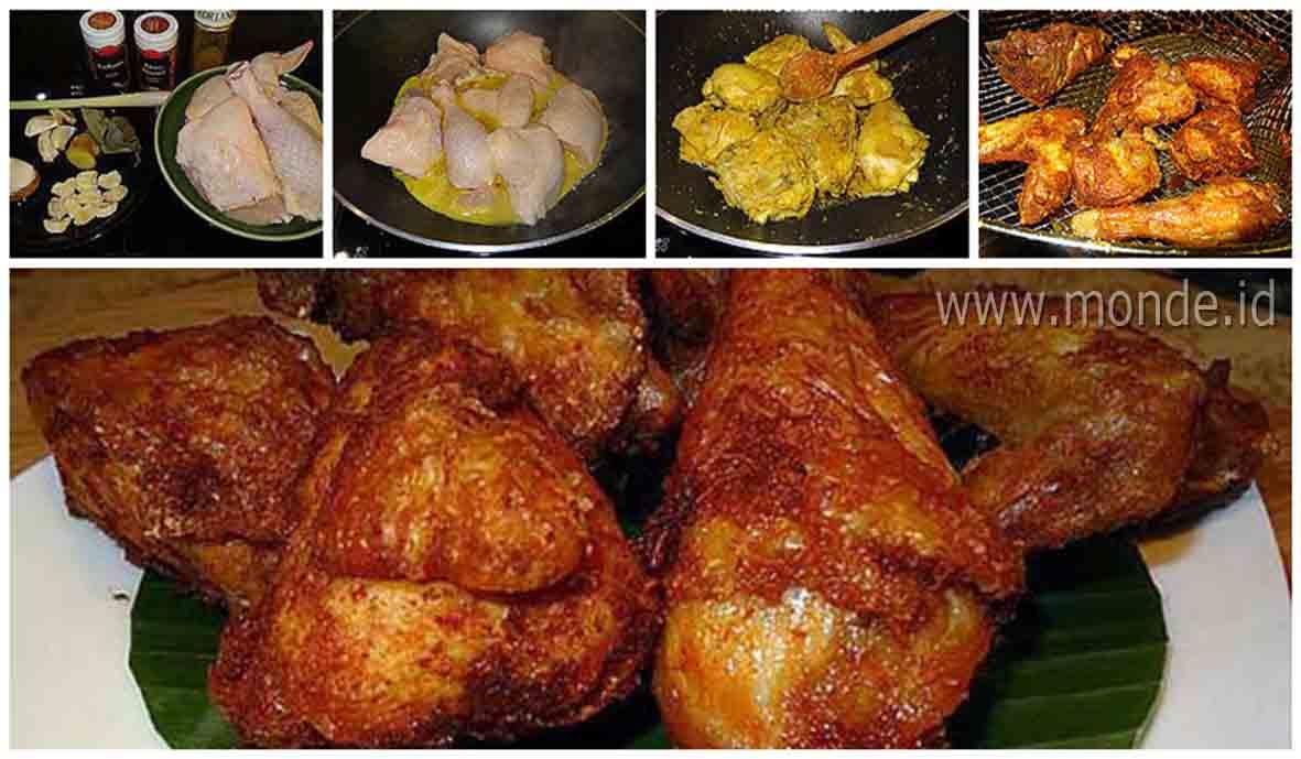 Resep Ayam Goreng Bumbu Kuning Crispy Gurihnya Sampai Ketulang