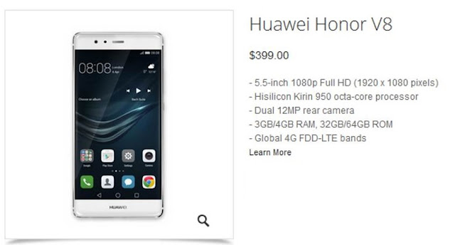 Huawei Honor V8 Specifications, Release Date & Features GSMARENA