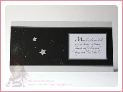 Stampin' Up! rosa Mädchen Kulmbach: Trauerkarte mit Sternenspruch und Wink of Stella