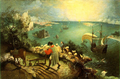 Pieter Bruegel the Elder, Landscape with the Fall of Icarus, ca. 1558