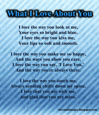 poema what i love about you