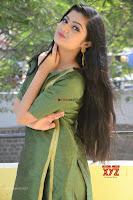 Akshitha cute beauty in Green Salwar at Satya Gang Movie Audio Success meet ~  Exclusive Galleries 029.jpg