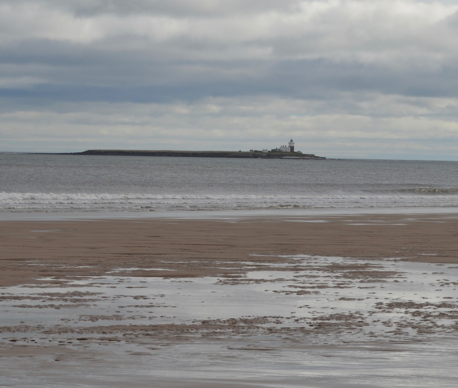 Warkworth beach - view towards Coquet island, Northumberland