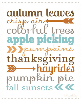 arrow printables autumn fall harvest september november thanksgiving printable