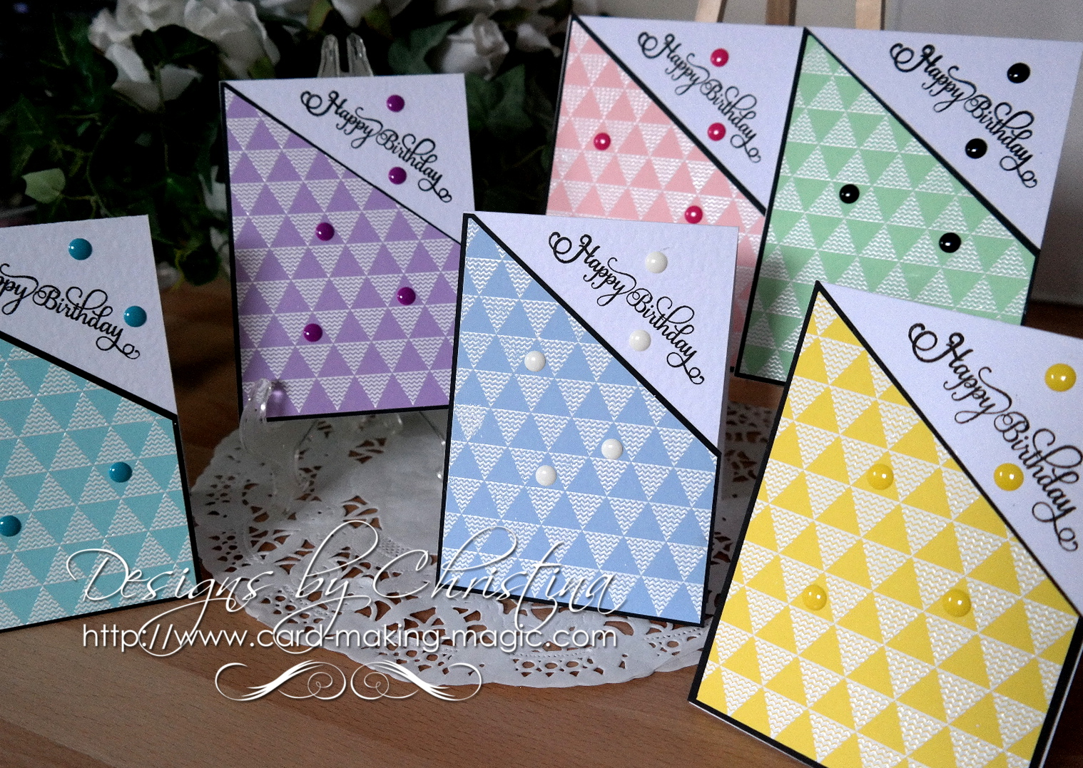 Flowers Ribbons And Pearls Birthday Cards Video