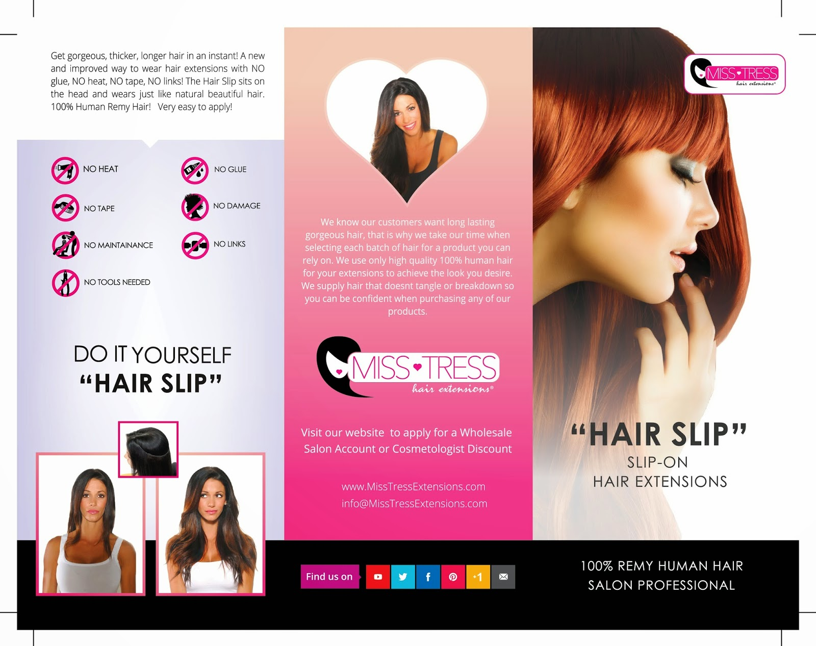 Brochure Design Options for Hair Extension Client (Graphic ...