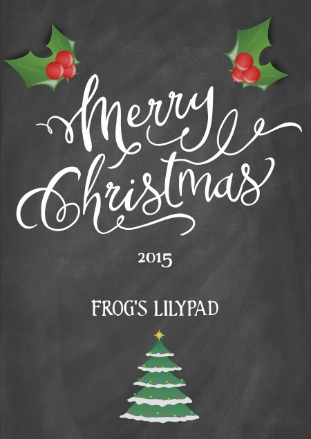 Merry Christmas 2015 from Frog's Lilypad
