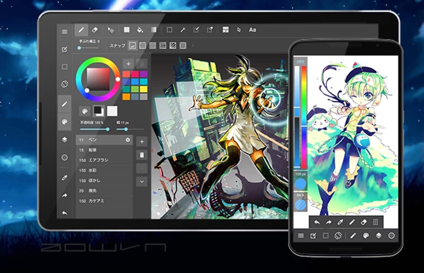 AowVN medibang%2B%25288%2529 - [ HOT ] MediBang Paint - Vẽ manga , anime mọi lúc mọi nơi trên Android , IOS và PC | Tiếng Việt
