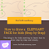 How to draw An Elephant face  for kids (Step by Step):
