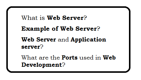 What is Web Server? | Web Technology Experts Notes