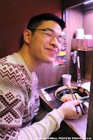 Jon at Ichiran Ramen in Tokyo, Japan