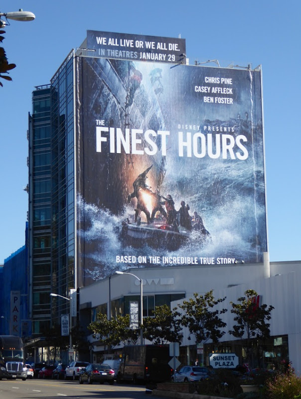 giant Finest Hours movie billboard