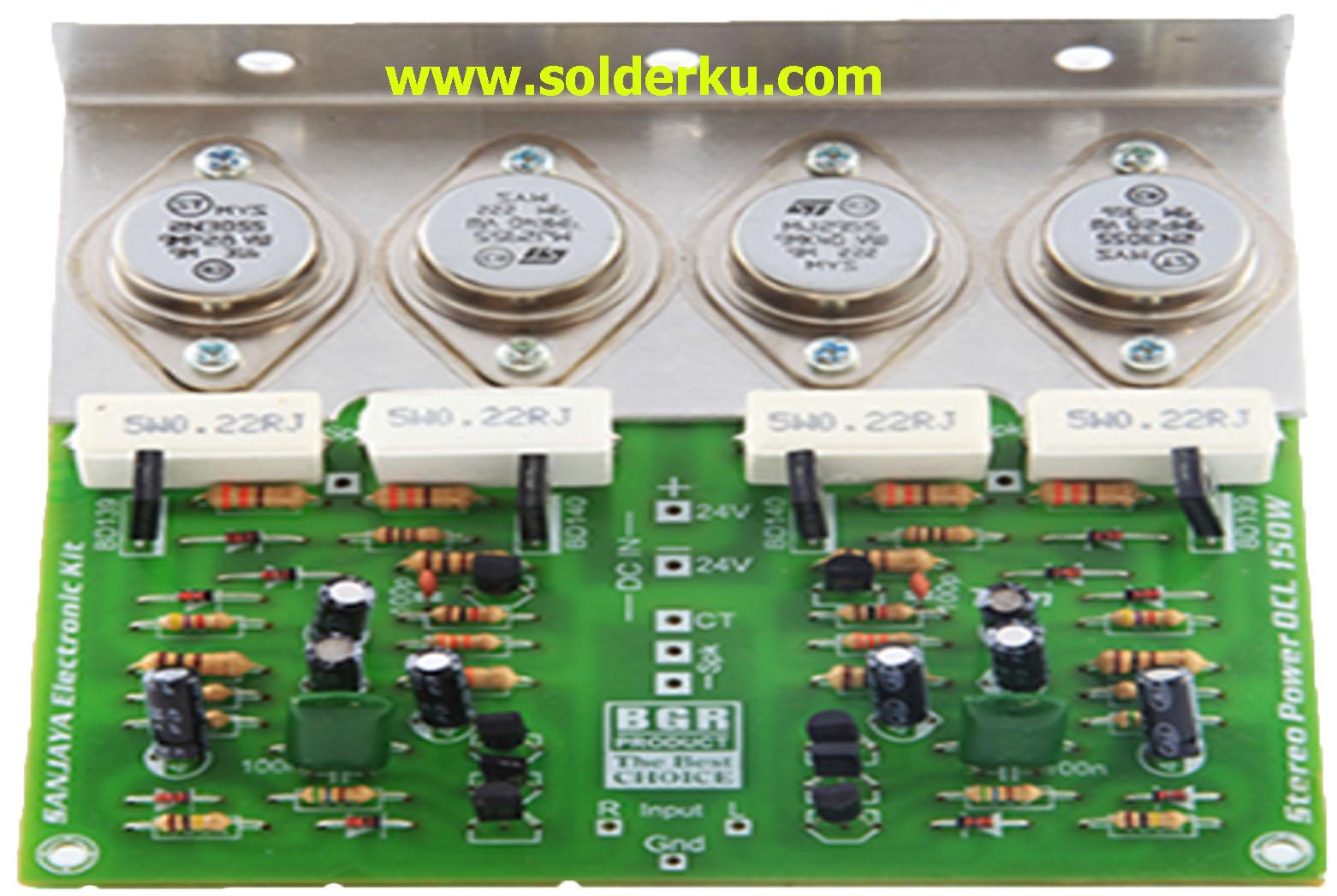 √4 Jenis Rangkaian Power Ampli Rakitan - solderku