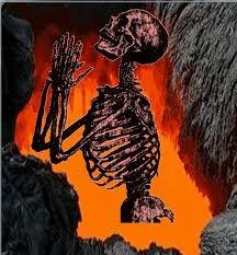 a damn skeleton man in hell