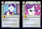 My Little Pony Rarity, Mover and Shaker Canterlot Nights CCG Card