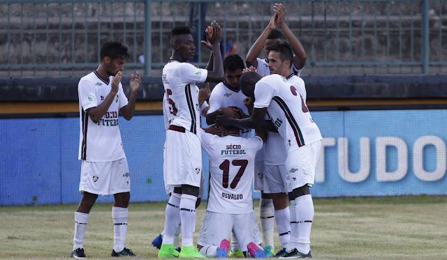 Goleada garantiu vaga antecipada ao Flu para as semifinais (Foto: Nelson Perez/Fluminense)