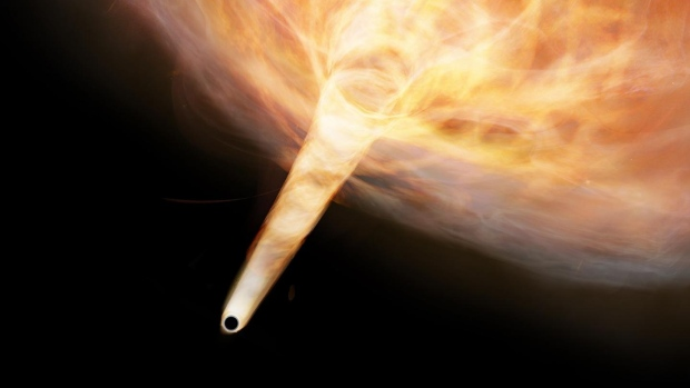 Astronomers find tail of stray black hole lurking in Milky Way