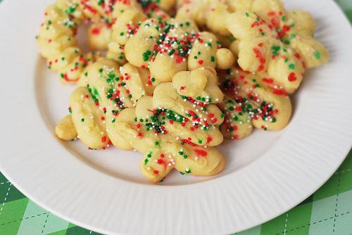 Spritz Cookies from Fake Ginger on @KatrinasKitchen